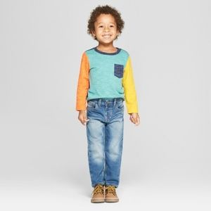 Cat & Jack Toddler Straight Adjustabl  Waist Jeans
